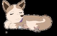 Gift tundra and newborn pups by raindroplily-d7zktzq