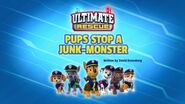 Ultimate Rescue Pups Stop a Junk Monster Title Card