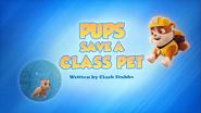 Pups Save a Class Pet
