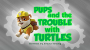 Pups Trouble With Turtle