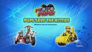 Moto Pups Pups Save the Kitties title card