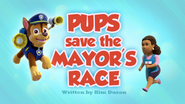 Pups Save the Mayor's Race