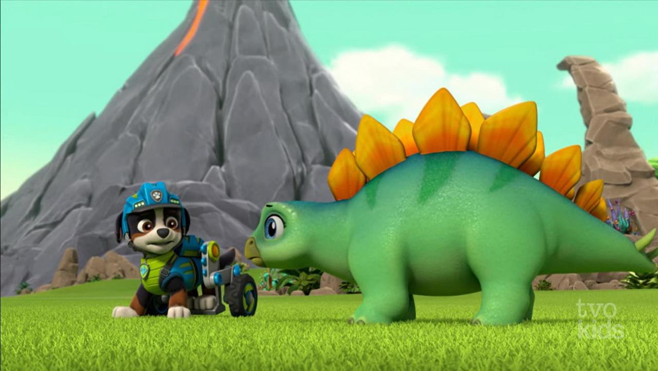 Baby stegosaurus
