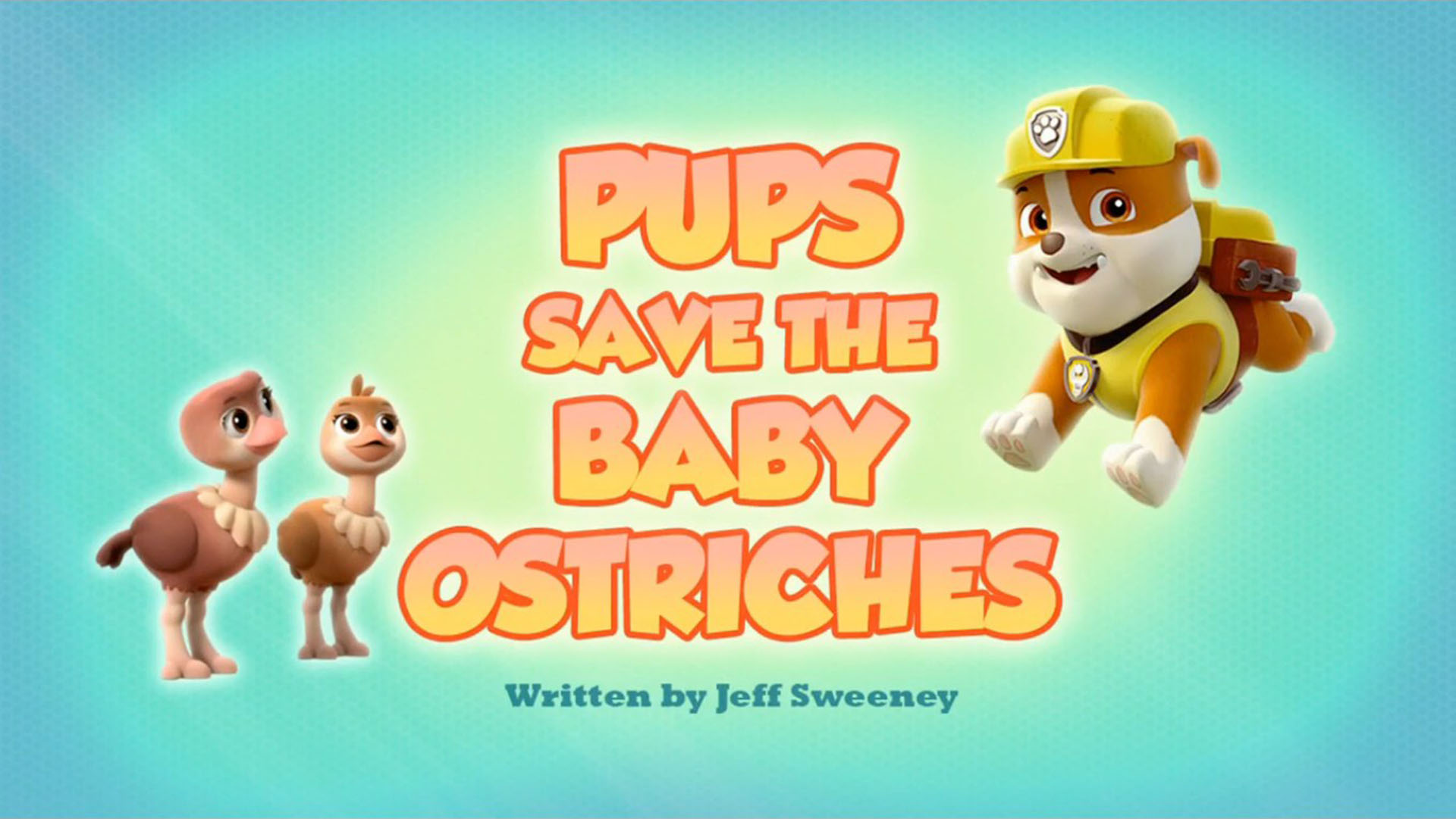Pups Save the Baby Ostriches