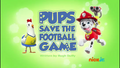 PAW Patrol Pups Save the Football Game
