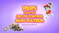 Pups Save an Out of Control Mini Patrol (HQ)