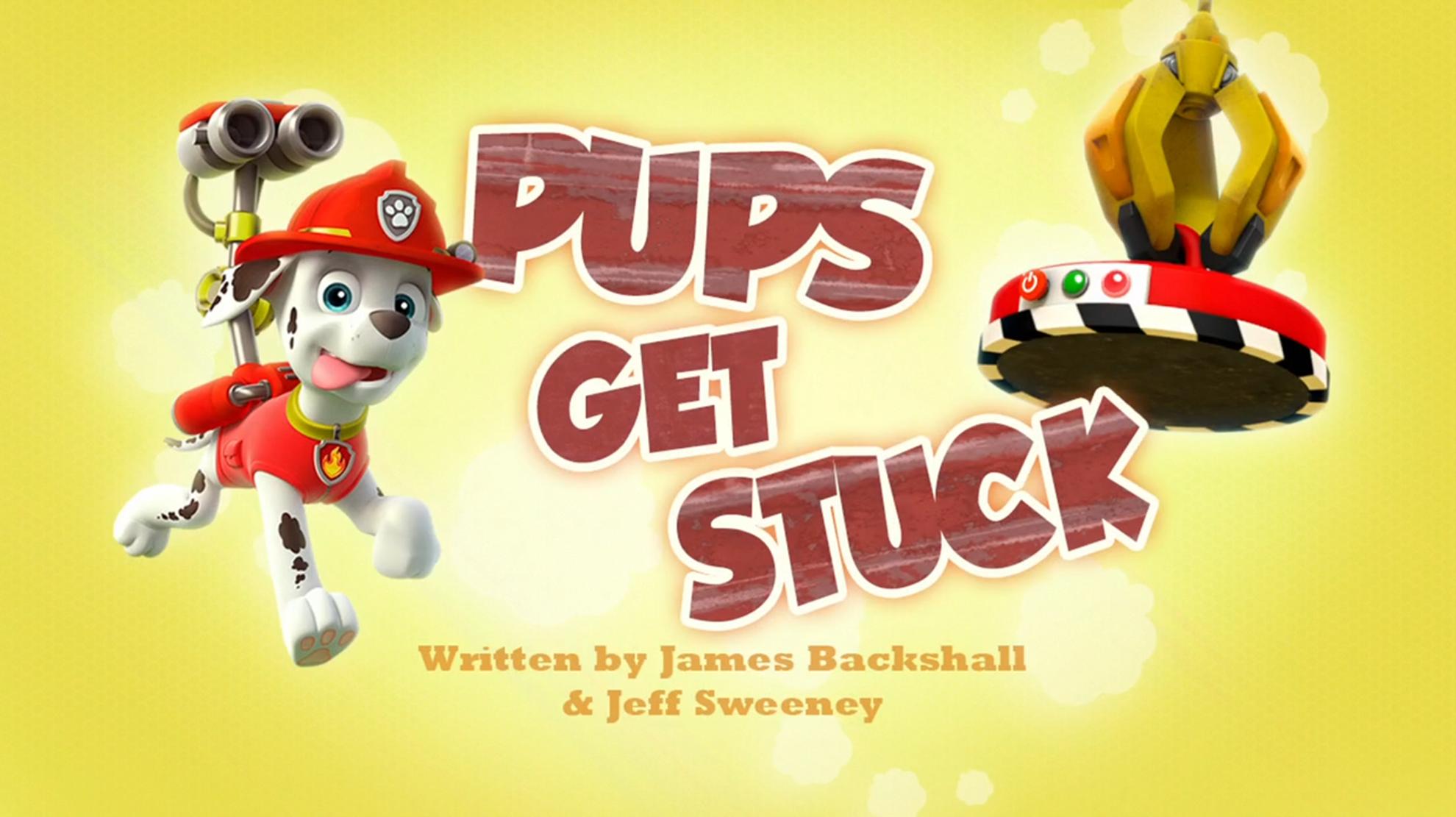 Pups Get Stuck
