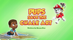 Pups Save the Chalk Art (HQ)