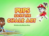 Pups Save the Chalk Art