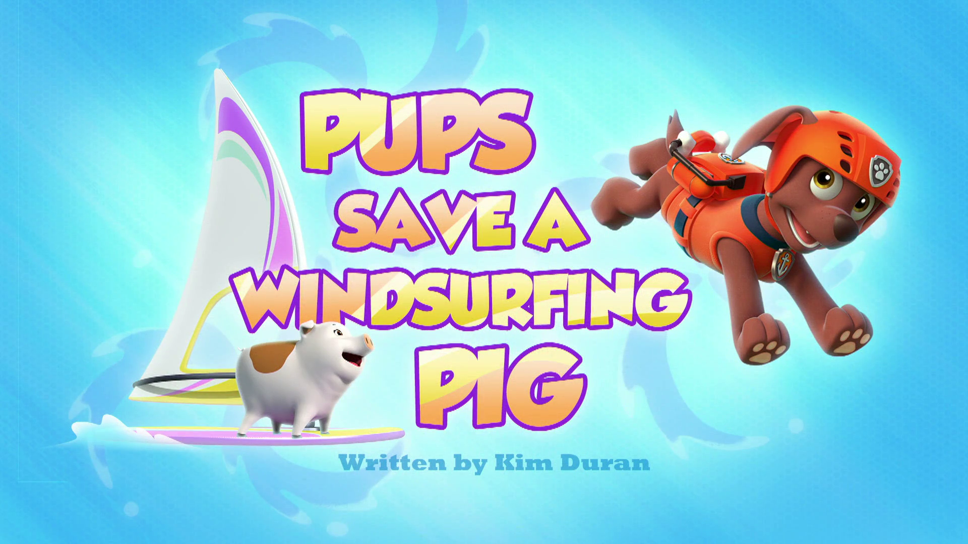 Pups Save a Windsurfing Pig