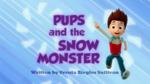 Pups And The Snow Monster