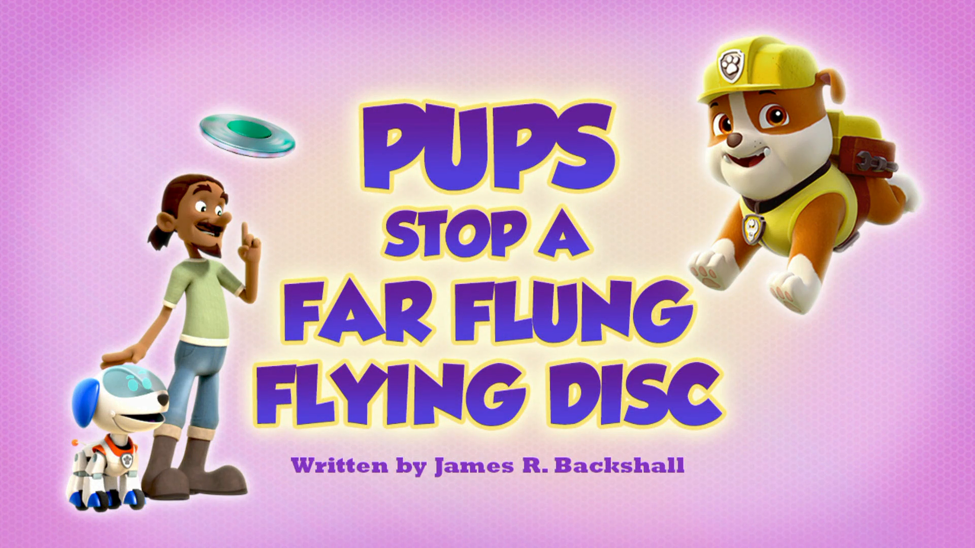 Pups Stop a Far Flung Flying Disc