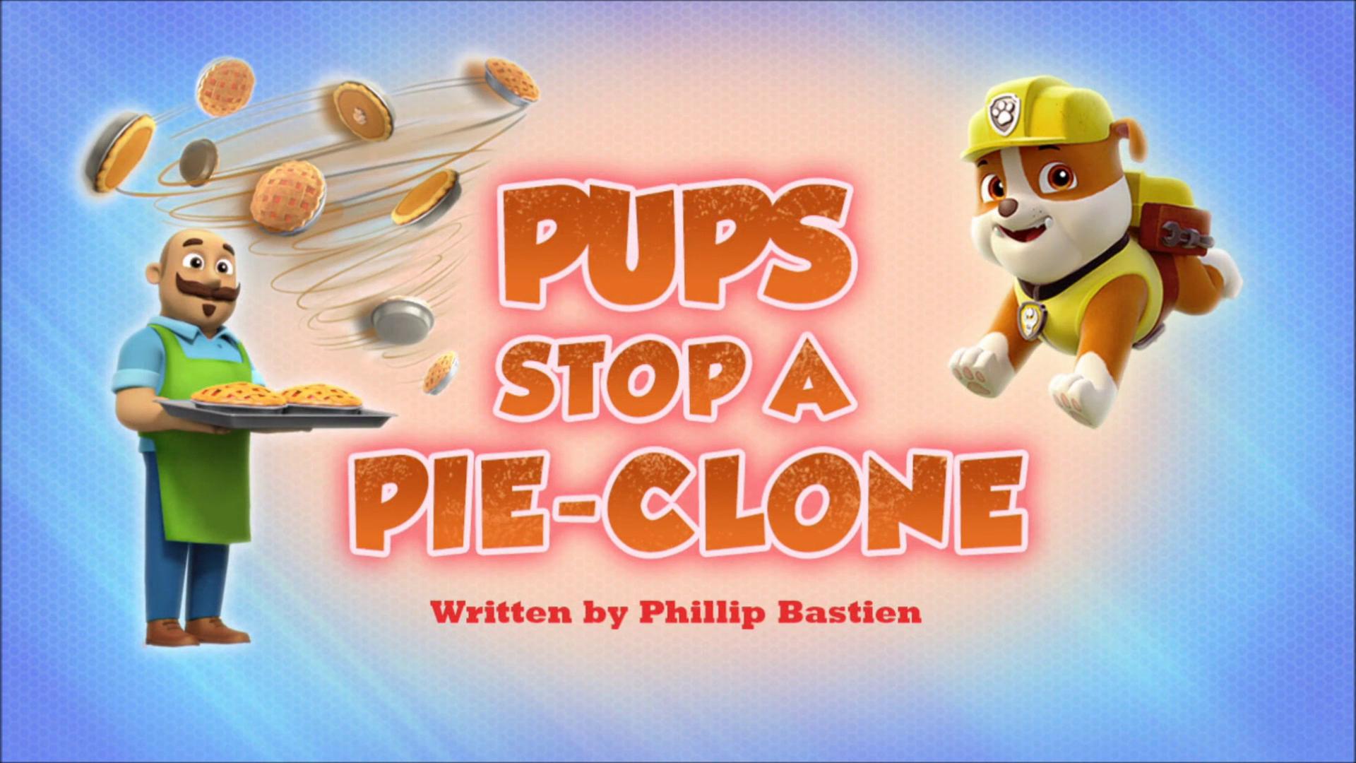 Pups Stop a Pie-Clone
