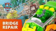 PAW Patrol Rocky's Rope Bridge Repair Toy Episode PAW Patrol Official & Friends