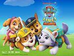 PAW-Patrol-Live-Race-To-The-Rescue-Tour-Nickelodeon-Australia-Preschool-VStar-Entertainment-Group-Life-Like-Touring-Nick-Jr-Spin-Master-Press-Poster-Logos 1