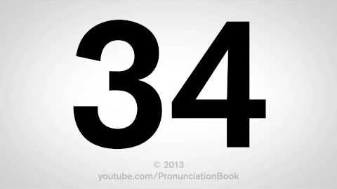 How to Pronounce 34