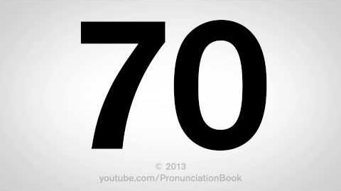 How to Pronounce 70-0
