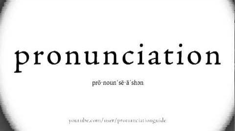 Pronunciation Guide