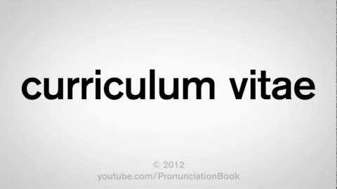 How to Pronounce Curriculum Vitae