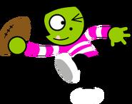 PBSK Digital Art - Dot About to Throw a Football