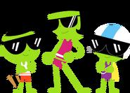 PBS Kids Digital Art - Swimsuits and Sunglasses