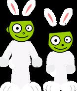 Dash and Dot as Bunnies
