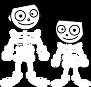 PBS Kids Digital Art - Dash and Dot as Skeletons