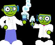 PBS Kids Digital Art - Dash and Dot as Scientists