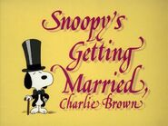Snoopy's Getting Married, Charlie Brown (1985)