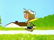 Peppermint Patty walking
