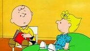 Charlie brown reading sally a story