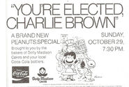 Youre Elected Charlie Brown ad