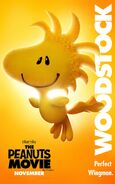 The Peanuts Movie Woodstock poster