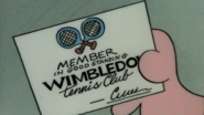 Member in Good Standing Wimbledon Tennis Club Card