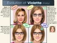 VIOLETTE Portrait Timeline