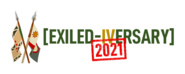Exiled-iversary logo horizontal glow