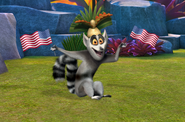 King Julien with USA Flags