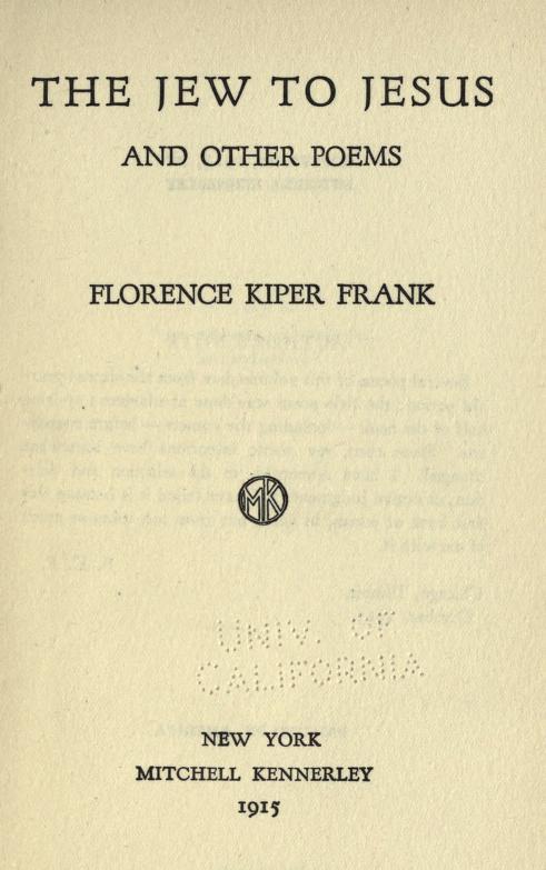 Florence Kiper Frank