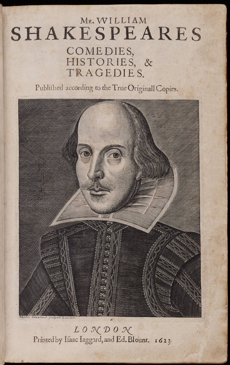 Shakespeares The tragedie of Julius Caesar - newly printed from the First Folio of 1623.