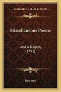 Jane West Miscellaneous Poems