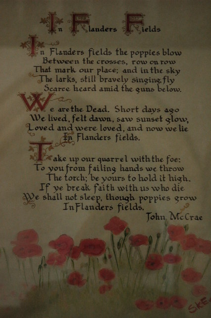 Canadian Poetry from World War I