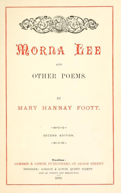 Mary Hannay Foott