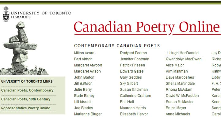 Canadian Poetry Online