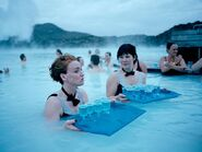 Water waitresses at Blue Lagoon in Iceland, beautiful