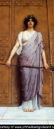 At the Gate of the Temple (or, The Priestess of Bacchus)