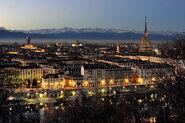 Beautiful Turin at twilight
