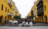 Horse and carriage in Plaza de Armas