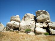 Rock faces petroglyphs