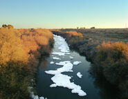 New River with ice