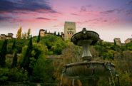 Alhambra and fountain